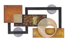 This abstract metal wall decor is beautifully sculptured and designed for a modern update to any home or office decor. This wall decor is designed to be hung horizontally and last for years from the quality metal construction. Abstract Metal Wall Art, Metal Sculpture Wall Art, Wall Sculptures, Metal Art, Modern Artwork, Contemporary Wall Art, Artwork Ideas, Metal Walls, Wood And Metal