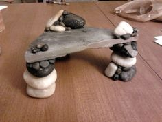 DIY Stacked Stone Platform - petdiys.com