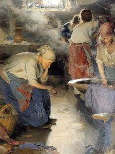 Abram Efimovich Arkhipov (1862-1930) - The Washer Women
