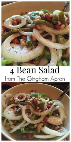 4 Bean Salad- a vintage salad that requires no cooking! So easy and delicious.