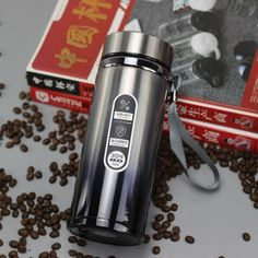 High capacity Business Thermos Mug Stainless Steel Water Bottle – Creationsg Portable Vacuum, Vacuum Flask, Insulated Water Bottle, Stainless Steel Water Bottle, Tea Mugs, Brand Names, Tumbler, Park Avenue, Outdoor Travel