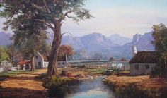 File:Gabriel de Jongh02.jpg - Did some beautiful paintings around the Cape, South Africa - son of Tinus de Jongh