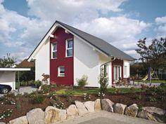 Klassiches Einfamilienhaus. Farbige Akzente. #Haus #Fassade