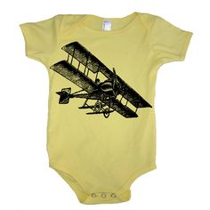 Vintage Fighter AIRPLANE Baby Bodysuit - American Apparel - 3-6m, 6-12m, 12-18m, 18-24m, (7 Color Options) on Etsy, $17.00