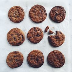 Double chocolate chip cookies med salt
