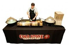 Coldstone caters! Thinking of ice cream instead of wedding cake :-) MIND BLOWN