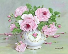 PRINT ON PAPER - Late Pink Blooms - FREE  Shipping WORLD WIDE