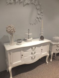 Small French White Sideboard
