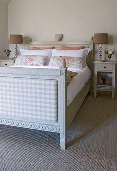 Room based on Carl Larson's paintings / grey color bed finish @Kim Dorris