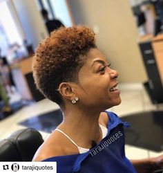 natural hair styles Big Chop Natural Hair: 5 Things You MUST Do Afterwards Natural Hair Short Cuts, Short Natural Haircuts, Short Black Hairstyles, Short Curly Hair, Short Hair Cuts, Curly Hair Styles, Big Chop Hairstyles, Natural Big Chop, Pixie Natural Hair
