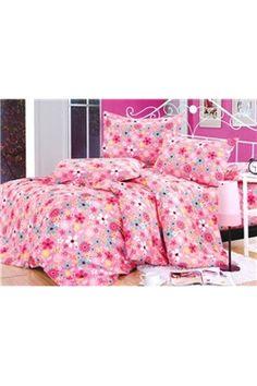 コンサメイトピンク花柄コットン4点寝具セット