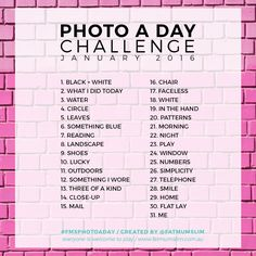 Photo A Day Challenge // Januar 2016 – - Photography Subjects Photography Challenge, Photography Lessons, Photography Projects, Creative Photography, Digital Photography, Portrait Photography, Photography Books, Inspiring Photography, Journaling
