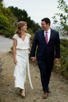The bride wears Luna, an Amy Kuschel wedding dress. | Photography: Dustin Cantrell, http://www.dustincantrell.com/
