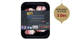 Specially Selected British Bacon Wrapped Sausages - £2.49 at ALDI My favourite mmmm :) pigs in blankets we call them