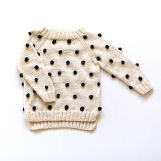 Kalinka Kids Viola Sweater - Vanilla/ Black