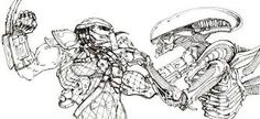 predator vs jason coloring pages - photo#8