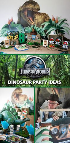Throw a Jurassic World party for the birthday boy who inspires to be a park ranger! Follow the link for @CraftThatParty's Jurassic Park dinosaur party ideas along with more party ideas!