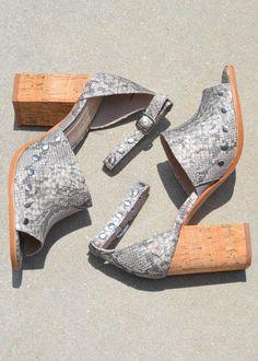 03e74ce2d7c Savana Cork Block Heel Sandal- Snake    FINAL. Hand In Pocket