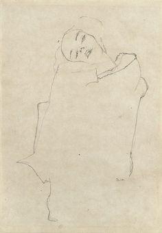 phytos:  Egon Schiele - Girl With Head Tilted, 1910