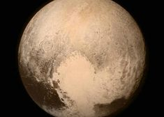 Mysterious 'heart' on Pluto has finally been explained     - CNET  Enlarge Image  Plutos got a loving heart even if its a bit cold.                                             NASA                                          Pluto has an icy heart but now science knows how it got there.  The large bright somewhat-heart-shaped patch of mostly nitrogen ice was spotted on the dwarf planet in July 2015 when NASAs New Horizons spacecraft snapped a now-famous image.  The 1200-mile-across heart was…