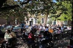 De Hemel. Most beautiful terrace of Nijmegen, Netherlands! Great food and beer brewery!