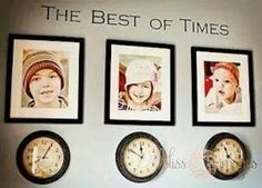 A picture of your child with s clock stopped at their time of birth. Love it!