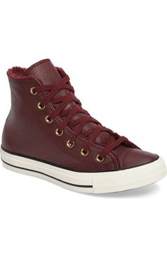 Converse Chuck Taylor® All Star® Faux Fur High Top Sneaker (Women) available at #Nordstrom