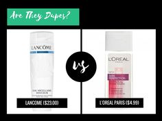 Is L'Oreal Paris Skin Perfection 3in1 Purifying Micellar Solution a dupe for Lancome Eau Micellaire Doceur?