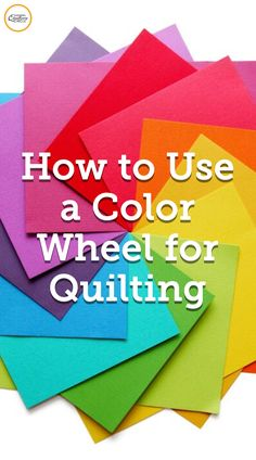 See how to use a color wheel and see how best to apply it to your quilting projects. Learn how to identify colors by their intensity. Quilting Tools, Quilting Tutorials, Machine Quilting, Quilting Projects, Quilting Designs, Sewing Projects, Sewing Hacks, Sewing Crafts, Sewing Tips