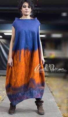 """Купить Валяное Платье - баллон """" В Тибете..."""" - комбинированный, валяное платье"""