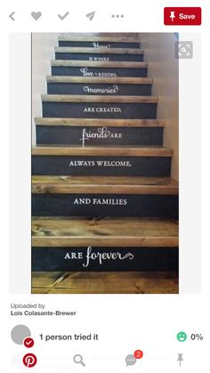 Painted Staircases, Painted Stairs, Staircase Painting, Basement Stairs, House Stairs, Pallet Stairs, Wood Stairs, Basement Ideas, Staircase Pictures