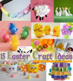 15 #Easter Craft Ideas {chicks, bunnies, lambs, and more}