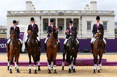 Nicola Wilson, Mary King, Zara Phillips, Kristina Cook and William Fox-Pitt took silver.
