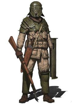 dieselpunkflimflam: Many a good alternate history. - The Art of Dieselpunk War Cyberpunk, Post Apocalypse, Apocalypse Armor, Apocalypse Survival, Armor Concept, Concept Art, Character Concept, Character Art, Character Portraits