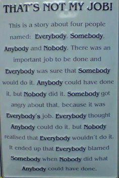 nobody somebody anybody poem | ... for EFL learners and teachers: Everybody, Somebody, Anybody, Nobody