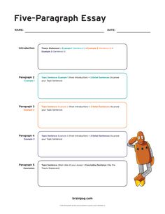 Take notes in preparation for writing a five paragraph expository essay using this five paragraph essay graphic organizer. Expository Writing, Paragraph Writing, Argumentative Essay, Academic Writing, Essay Writing, Thesis Writing, Writing Strategies, Writing Help, Writing Ideas