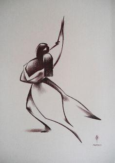 Tango Mania I by Oleg Eldeukov  #olegeldeukov #francisilesgallery  Copyright remains with the artist.