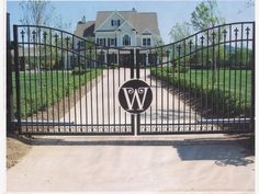 Estate Gate Home And Garden Design Ideas Wrought Iron Driveway Gates Entrance