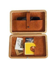 GRAV GRAV - Embroidered Wooden Wallet $199