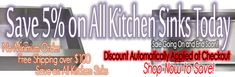 CBath Storewide Sale http://www.cbath.com/kitchen-sink/stainless-steel-kitchen-sinks/top-mount-kitchen-sinks.html