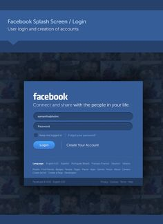 Facebook new UI Prototype Login - New Look & Concept by Fred Nerby