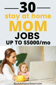 Looking for the best online jobs for moms to boost your income? Here's a list of 30 stay at home mom job ideas that pay well. Legit Work From Home, Legitimate Work From Home, Work From Home Jobs, Online Jobs For Moms, Best Online Jobs, Work From Home Companies, Stay At Home Mom, Hustle, Wellness