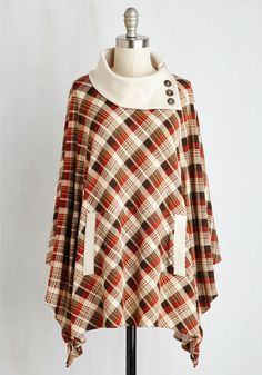 Sweet as Cider Sweater. Take on a look thats as warm as your spiced drink and cozy as can be by slipping into this plaid sweater. #multi #modcloth