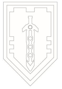 Coloring page Lego Nexo Knights shields-6 on Kids-n-Fun.co.uk. On Kids-n-Fun you will always find the best coloring pages first!