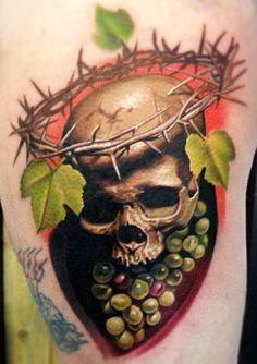 Tattoo Artist - Nikko Hurtado - skull tattoo | www.worldtattoogallery.com