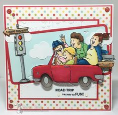 Art Impressions Blog: Art Impressions® Clear Stamps, Road Trip @ Michael's. Handmade Girlfriends card.