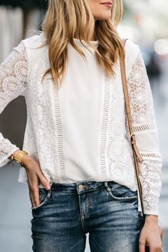 Easy white top and jeans