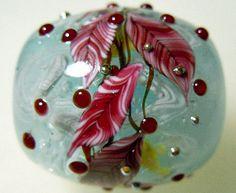 Red Leaves over Koi Carp Fishes Satake Glass by AyakoGlassGarden