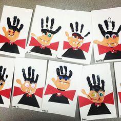 Handprint Vampire Halloween Craft for Kids - Crafty Morning