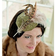 Made for the woman who loves to make a grand entrance. This fascinator is from the Much Ado About Nothing Olive and Jane Collection.